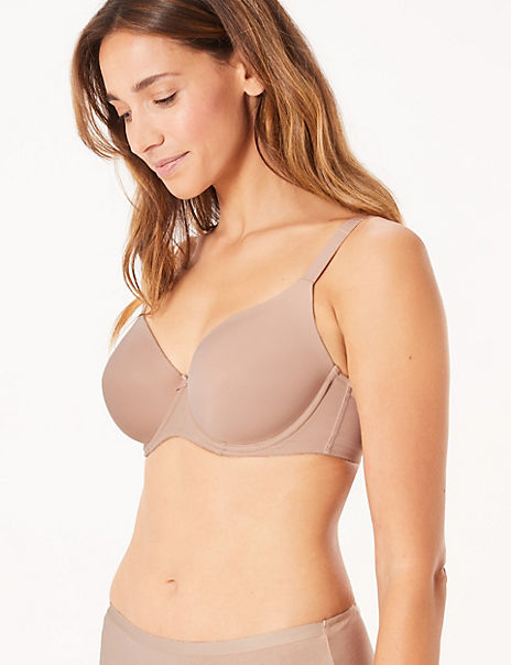 2 Pack Padded Full Cup T-Shirt Bras A-DD