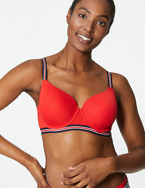 2 Pack Cotton Rich Underwired Full Cup Bra A-E