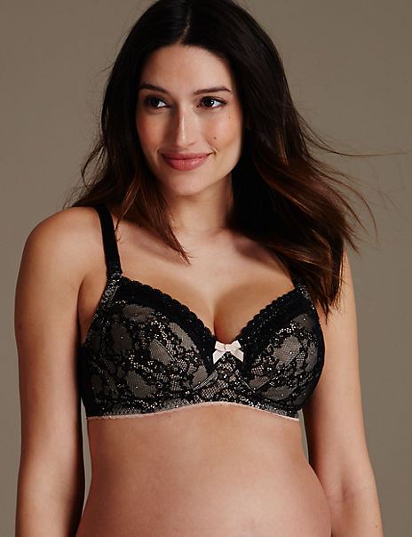 2 Pack Maternity Lace Non-Wired Full Cup Bras B-F