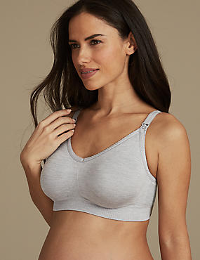 2 Pack Seamfree Maternity Padded Full Cup Bras