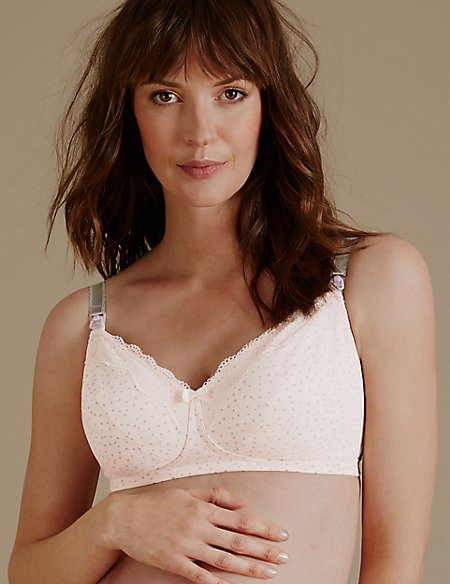 2 Pack Maternity Non-Padded Full Cup Bras C-H