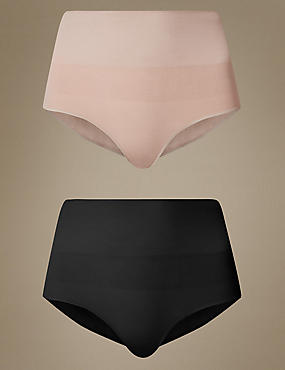 2 Pack Modal Rich High Leg Knickers