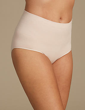 Medium Control 2 Pack Seamless High Leg Knickers