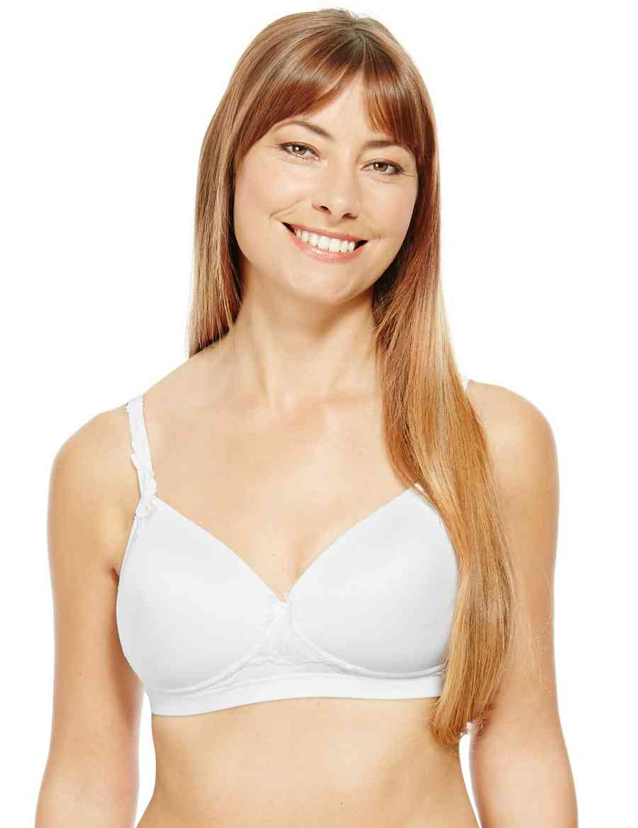 ef6a11d5dc Post Surgery Embroidered Padded Full Cup Bra A-DD