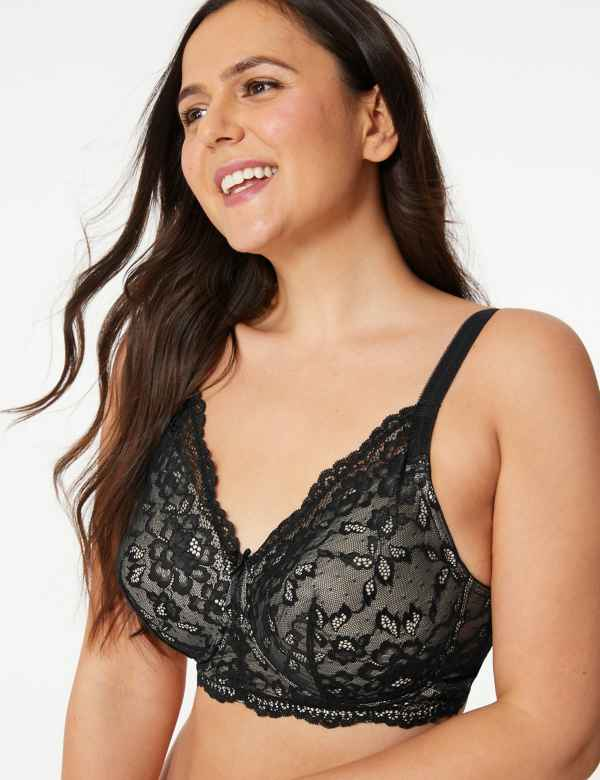 5ca00ece2 Post Surgery Louisa Lace Padded Full Cup Bra A-E