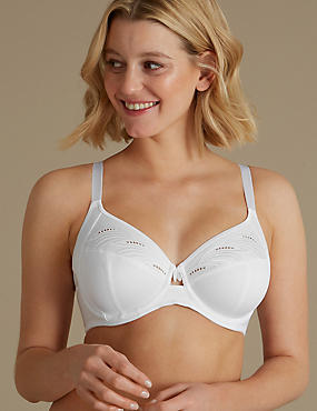 Cotton Blend Non-Padded Full Cup Bra B-E