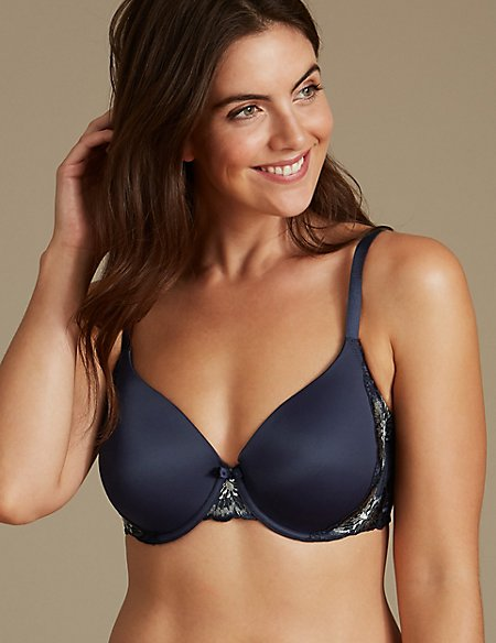 With Mastercard Cheap Price Cheap Looking For Marks & Spencer Flora Embroidered Full Cup T-Shirt Bra A-E - - 34/A YUGV3eqUTR
