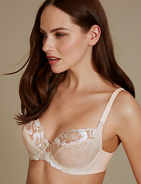 Embroidered Non-Padded Balcony Bra B-E