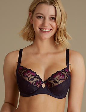 Olivia Embroidered Non-Padded Balcony Bra B-E