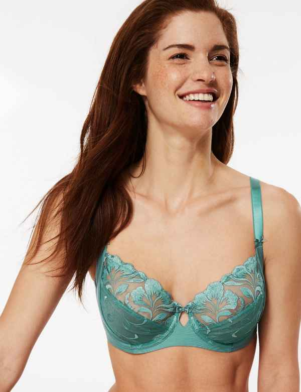 647393c5d6b3 Olivia Embroidered Non-Padded Balcony Bra B-E