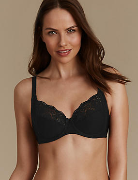 Vintage Cotton Rich Non-Padded Full Cup Bra B-E