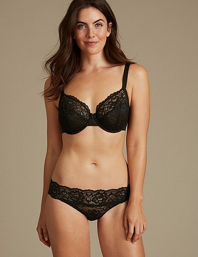 2 Pack Louisa All Over Lace Non-Padded Full Cup Bras B-DD  ca32f4dcd
