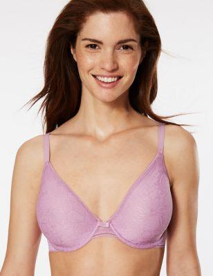 Body Lace Non-Padded Plunge Bra B-E