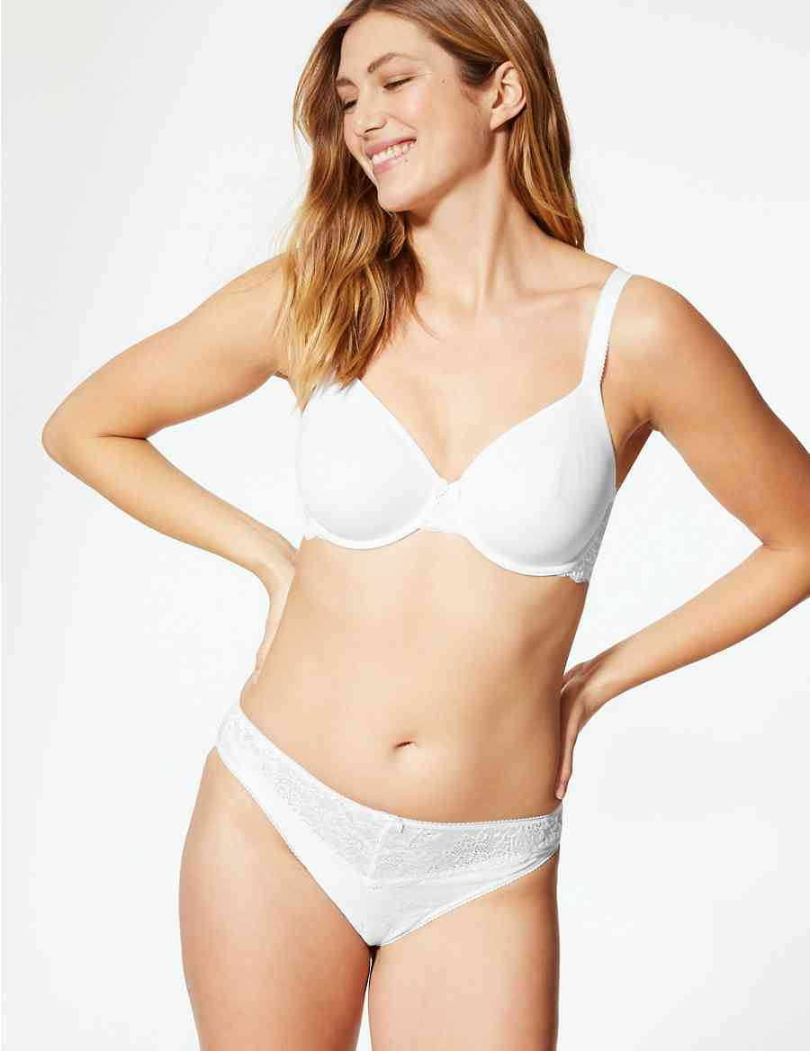 54fe1095c0a08 Lace Wing Smoothing Underwired Non-Padded Bra B-E