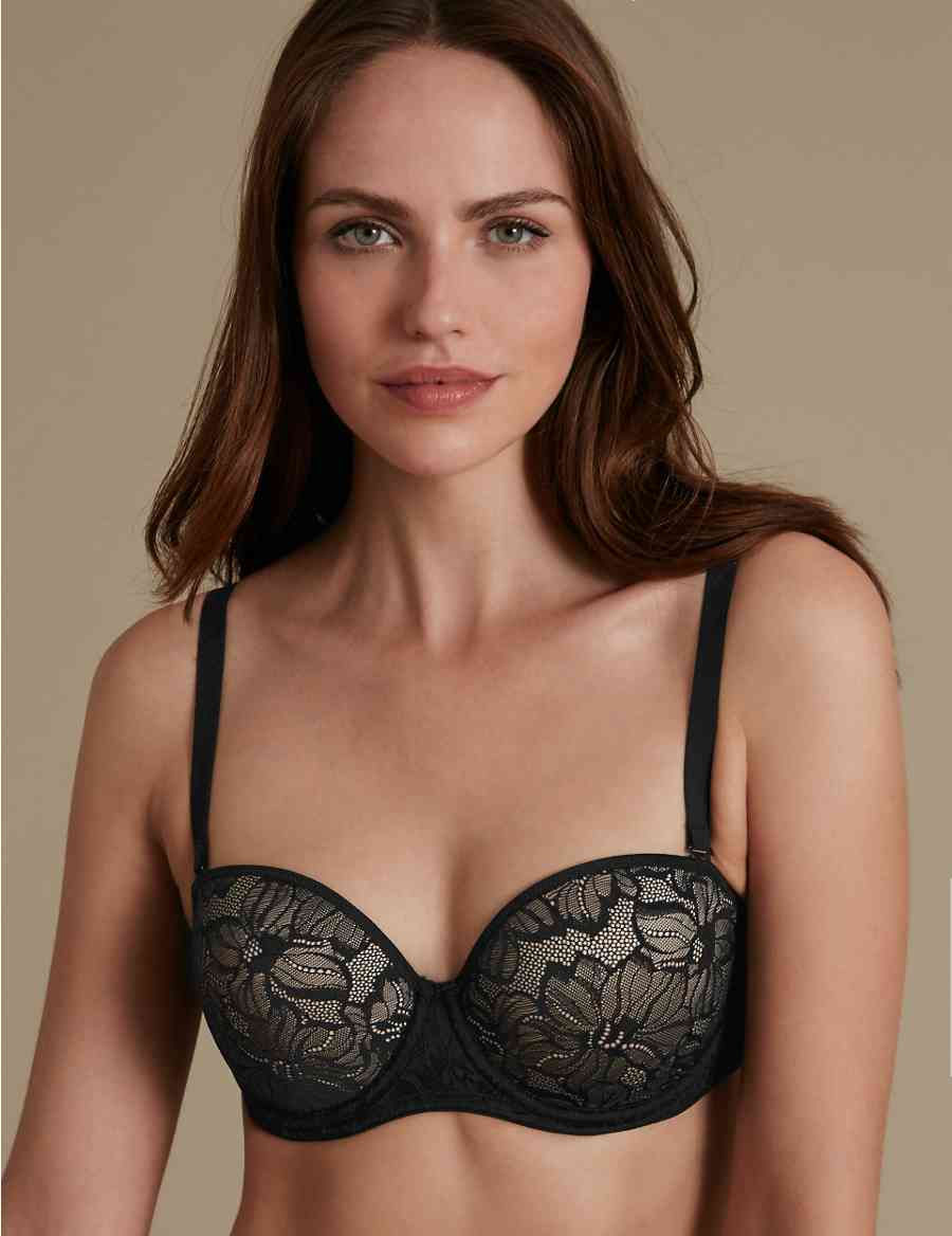 a345afccec222 Youthful Lift trade  Lace Padded Strapless Bra A-E