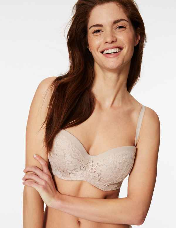 b867751438 Cool Comfort™ Cotton Blend Padded Strapless Bra A-E