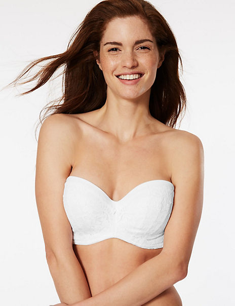 Cool Comfort™ Cotton Blend Padded Strapless Bra A-E