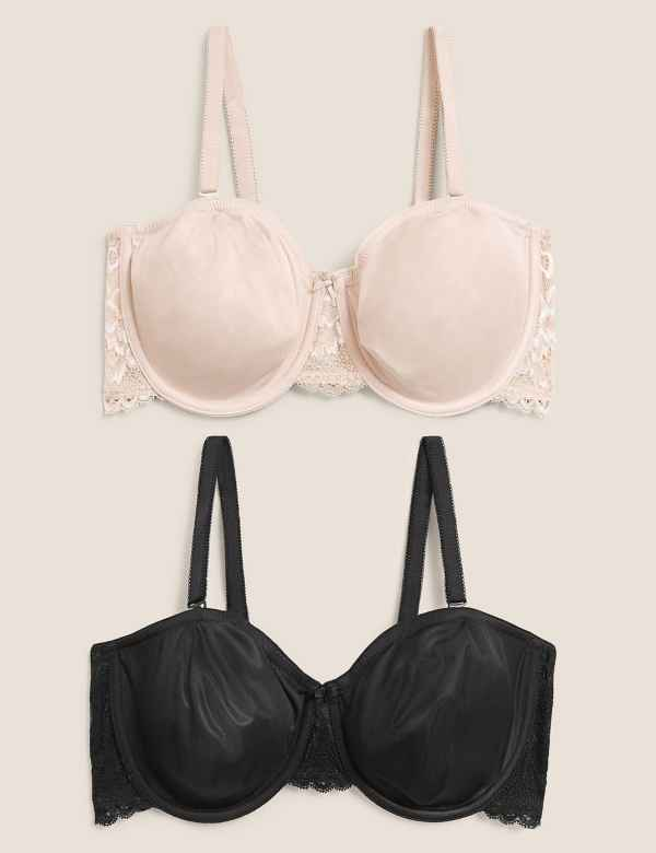 8cf2304df3 2 Pack Non-Padded Strapless Bras A-D