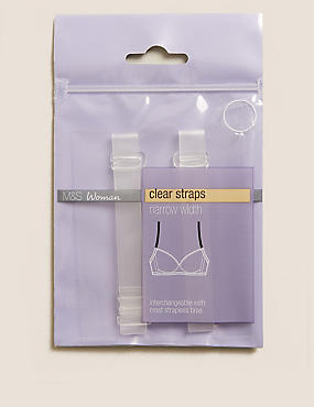 Detachable Clear Bra Straps - Standard Width