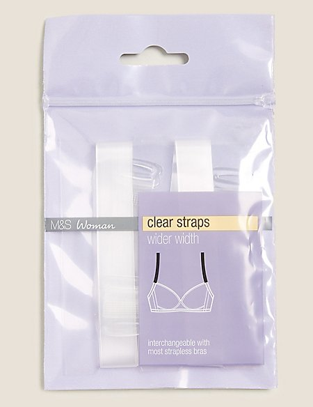 Detachable Clear Bra Straps - Wider Width