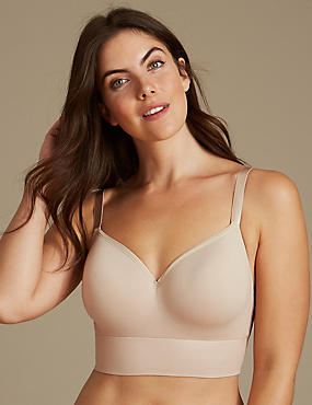Modal Blend Non-Wired Longline Full Cup T-Shirt Bra A-E