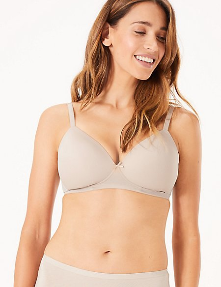 2 Pack Non-Wired Full Cup T-Shirt Bras AA-E