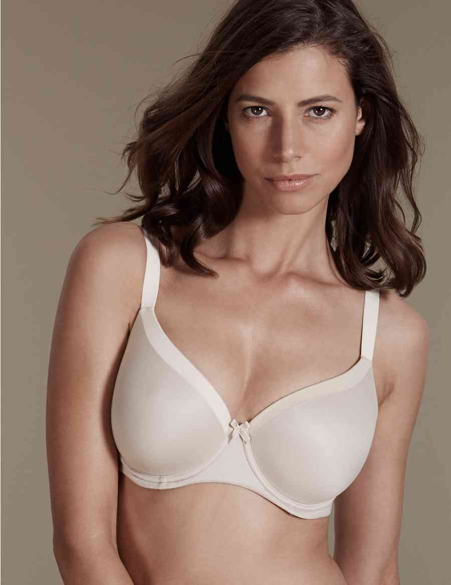 67165589df83d Sumptuously Soft Underwired Padded Full Cup T-Shirt Bra DD-G
