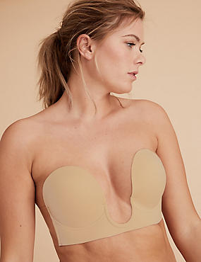 Stick On Padded Plunge Strapless Bra