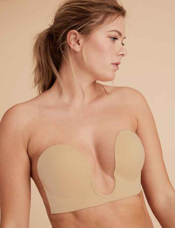 7be6a5bf9e Stick On Padded Plunge Strapless Bra