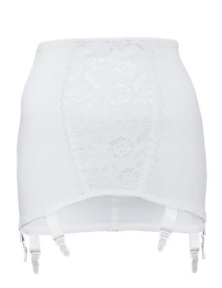 Firm Control Floral Lace Traditional Pull On Girdle