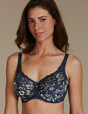 Jacquard Print Set with Non-Padded Full Cup DD-H