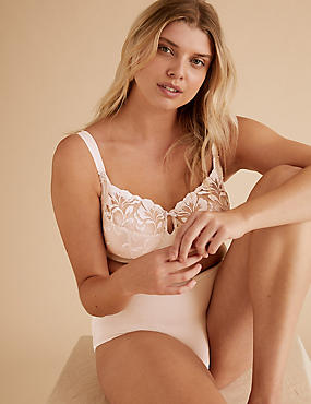 Olivia Embroidered Non-Padded Full Cup Bra DD-H
