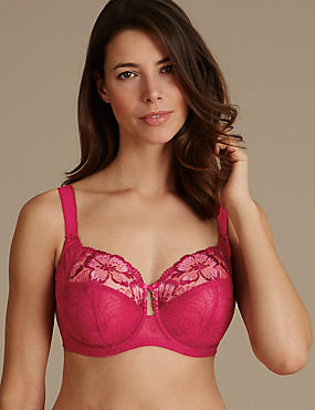 Embroidered Non Padded Full Cup Bra DD-H