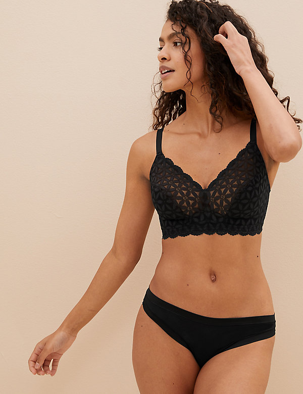 Lace Non-Padded Bralette F-H