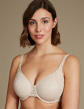 bd78ffbc9d Vintage Lace Minimiser Non-Padded Full Cup Bra C-GG. M S Collection