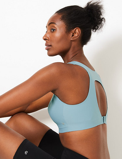 NEW M/&S SMOOTHLINES LIGHTWEIGHT HIGH IMPACT SMOOTHING BACK SPORTS BRA 32DD