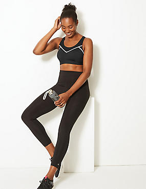 High Impact Reflective Sports Bra A-DD