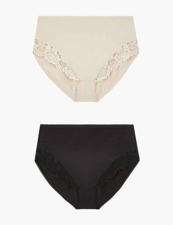 690907b3a6f 2 Pack Firm Control High Leg Knickers