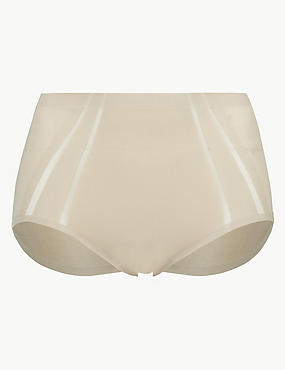 Light Control Sheer Shaping High Leg Knickers with Mesh