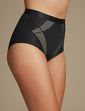 Medium Control Mesh Insert Full Brief Knickers