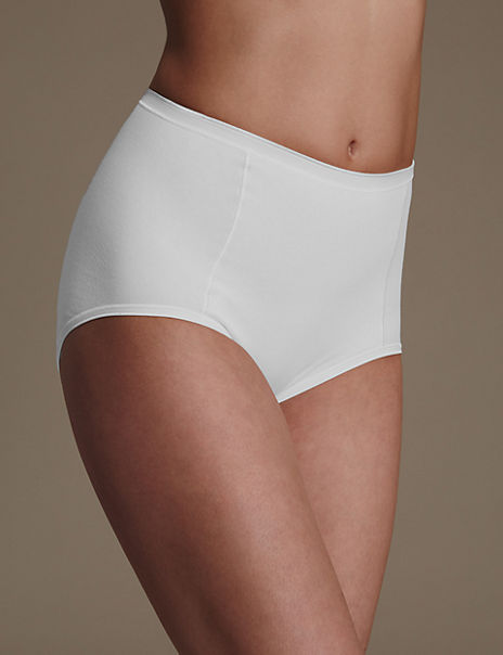 2 Pack Firm Control Cotton Rich Full Briefs