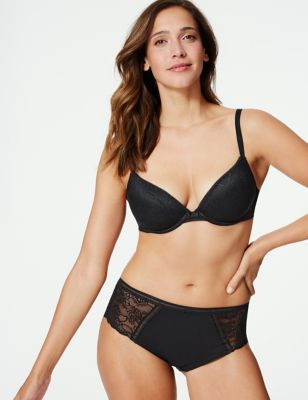 Body™ Lace Padded Push-up Plunge Bra A-E