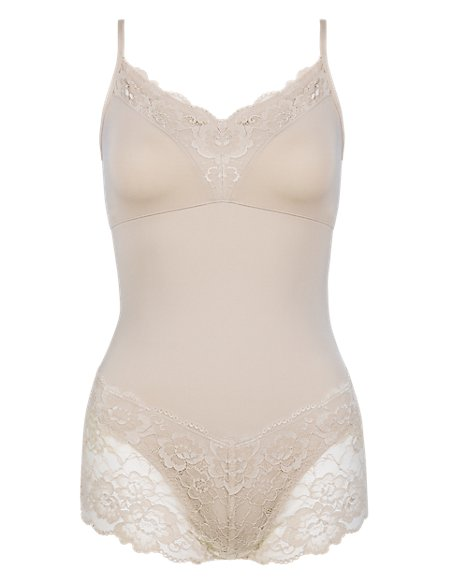 Light Control Floral Lace Soft Shaping Teddy