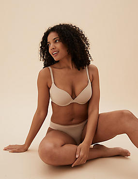 Padded Push-Up Set with Plunge T-Shirt AA-DD
