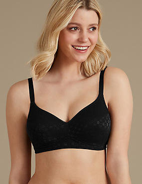 2 Pack Jacquard Padded Full Cup Bras AA-DD
