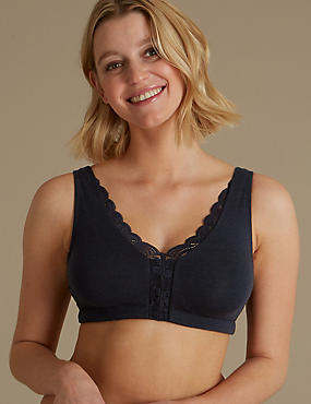 Cotton Blend Non-Padded Full Cup Bra
