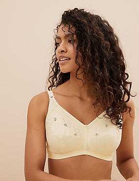 Total Support Non-Wired Embroidered Full Cup Bra B-G
