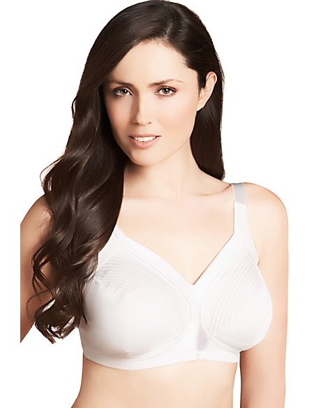 Total Support Tailored Stripe Non-Wired B-G Bra
