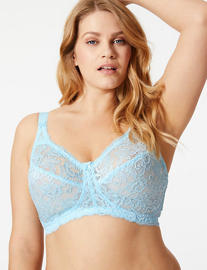 36ab7617662 Total Support All-Over Fleur Lace Full Cup Bra B-G | DD+ bras ...