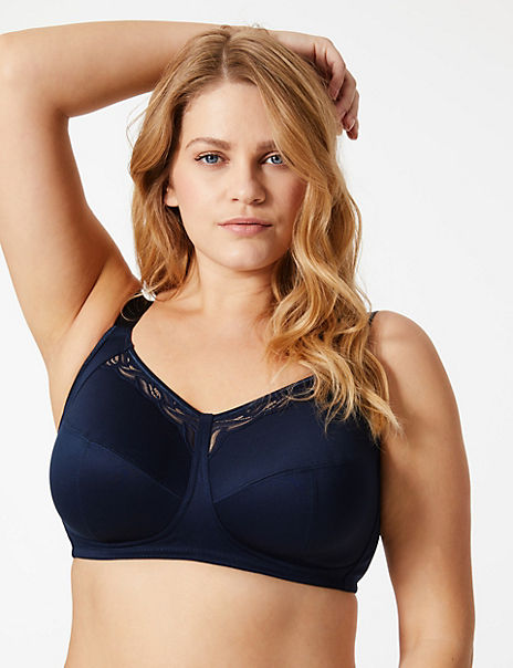 2 Pack Total Support Lace Cut Out Full Cup Bras B-G